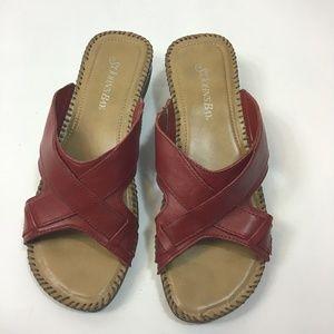 St. John's Bay Beacon Red Slip on Sandals S 71/2M